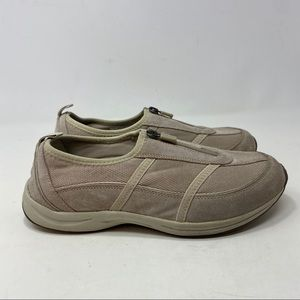 Easy Spiritt Women's Taupe Slip On Shoes Size 9W